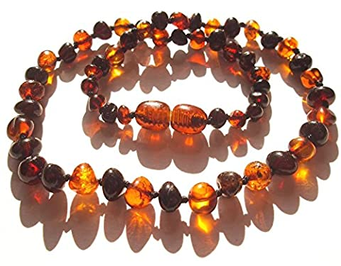 Premium Baltic Amber Necklaces - Highest Quality Certified Genuine Baltic Amber Beads - various sizes from 29 to 46 cm - 100 Days 100 % Satisfaction, Money-Back