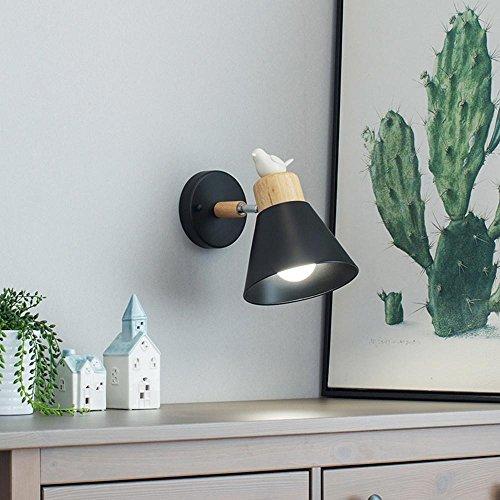 TAI2 LED-Wandlampe Seeksung modernen Vogel kreative Persönlichkeit Wohnzimmer lesen Dekoration Kinderzimmer E27 Lampe enthält Glühbirne Breite 17cm * Höhe 22cm, A -