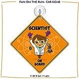 Scientist on Board Car Sign | Lady Scientist