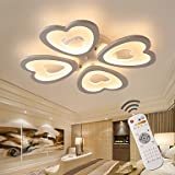SDKKY Electrodeless Decke lampe Dimmen modernen/zeitgenössischen Andere Funktion für LED-Designer Metall Led Wohnzimmer Schlafzimmer Badezimmer Arbeitszimmer, Warm weiss, 115V