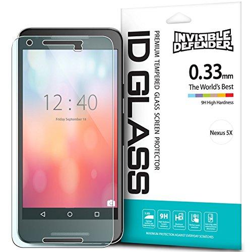 Nexus 5X Displayschutz – Invisible Defender Glas (angelegtes Glas) Das ultimative Schild für HD Qualität, Anti-kratz Technologie für das Google Nexus 5X (2015)