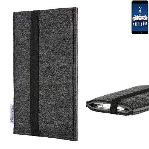 flat.design Handyhülle Lagoa für Leagoo T5C | Farbe: anthrazit/grau | Smartphone-Tasche aus Filz | Handy Schutzhülle| Handytasche Made in Germany