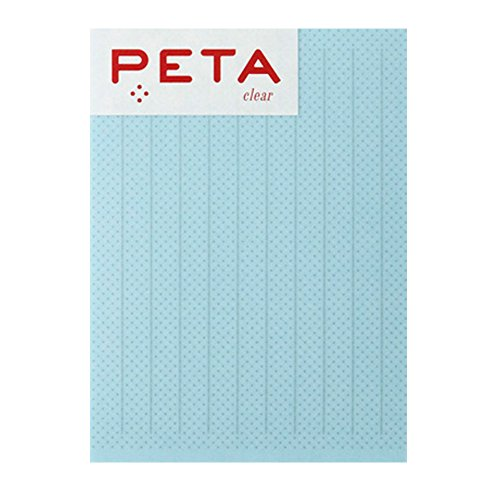 PCM Takeo sticky PETA L sheer sticky 20 sheets blue stripe line 1736374 Line Sheer
