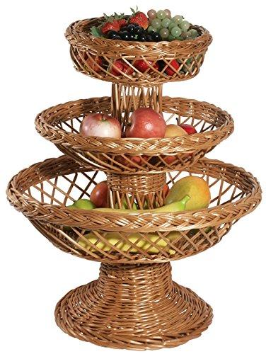 Panier de présentoir à gâteaux en, gesottener osier, Haute Qualité foncé/Hauteur : 57 cm   erk