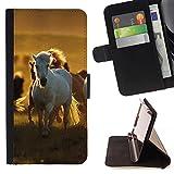 Graphic4You Pferd Tier Design Brieftasche Leder Dünn