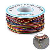 8-Color Insultation Test Wrapping Cable Wrapping Wire for Laptop Electronic Test with Soldering Iron Sponge Cable AWG 30 P/N B-30-100 0.25mm2 Tinned Copper Solid Cable 280M