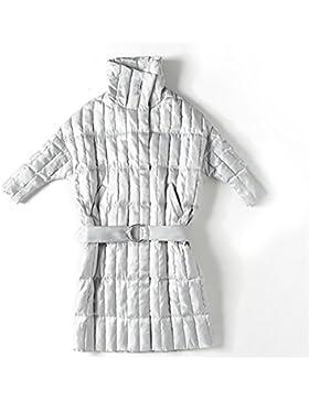 Las señoras de las mujeres abajo de la chaqueta con el engrosamiento de la correa outwear abrigo de algodón destacan...