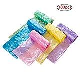 Plastica Trash Bags Garbage Bags sacchetti della spazzatura immondizia pattumiera per bagno cucina soggiorno 10L multi colori 100pcs/Pack