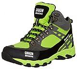 GUGGEN MOUNTAIN, Damen Frauen Wanderschuhe Outdoorschuhe Walkingschuhe M011, Farbe Gruen, EU 39