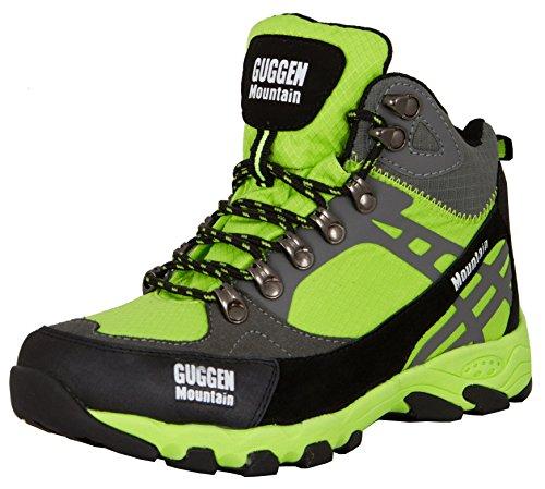 #GUGGEN MOUNTAIN, Damen Frauen Wanderschuhe Outdoorschuhe Walkingschuhe M011, Farbe Gruen, EU 41#