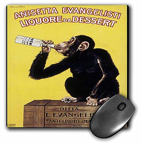3dRose mp_129963_1 8 x 8-Inch Vintage Anisetta Evangelisti Liquore De Dessert Italian Advertising Poster Mouse Pad