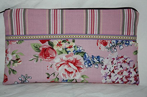 Lilli Cœur de Lion main Trousse Pochette Portofino Flowers and Stripes Rose