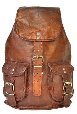 Gusti Leder Pinguin - Mochila estilo vintage (piel), color marrón