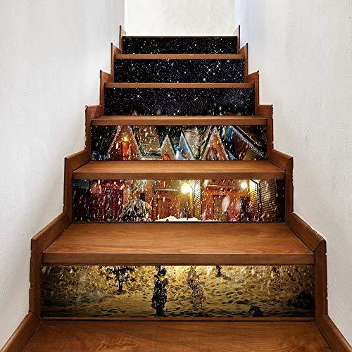 Calcomanías De Escalera De Arte De Casa De Navidad
