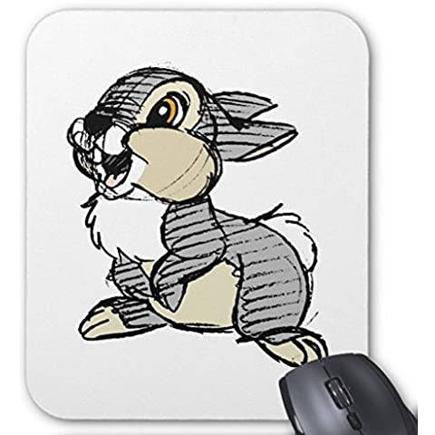 Rectangular Gaming Mouse Pad bambis Tambor conejo Mouse Pad 7,9x 9,8pulgadas