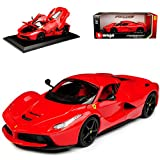 alles-meine.de GmbH Ferrari LaFerrari Coupe Rot mit Schwarzen Felgen Ab 2013 1/18 Bburago Modell Auto