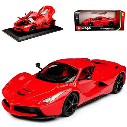 Ferrari LaFerrari Coupe Rot mit Schwarzen Felgen Ab 2013 1/18 Bburago Modell Auto (Rote Und Schwarze Felgen)