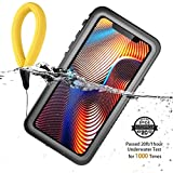 Obamono iPhone Xr Cellphone Case Waterproof Pouch Shockproof Ultra-Slim 360° Protection Rugged Case Bag Cell Phone Underwater Accessory Case Pouch Shockproof Compatible with iPhone Xr (Black