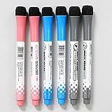#4: Ocamo Children Magnetic Easy Wipe Marker Pen Non-Toxic Portable Cute White Board Pen with Eraser 1pcs