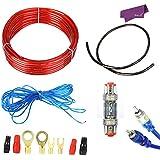 SalesLa 1500W 10 GA Car Audio Holder subwoofer cableado del amplificador fusible Alambre Alambre Juego de cables de la Tierra