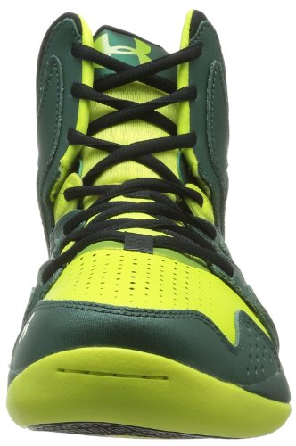 Under Armour Ua Micro G Ion, Chaussures de basketball homme Vert (Vel/Hyper Green/Black)