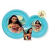 Conjunto dejeuner Vaiana plato vaso comidas niño Disney