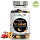 T5 Fat Burner – Max Strength 1300 mg/90 Veg Caps 1 Month Supply – Somatox