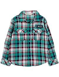 Beebay Boys Teal Green Check Shirt (Green Check)