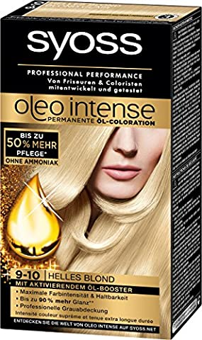 Syoss Oleo Intense Coloration 9-10 Helles Blond, 3er Pack (3