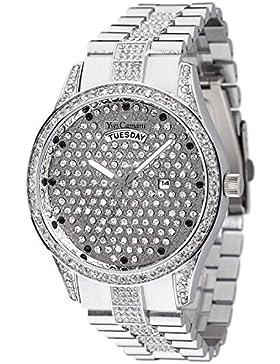 Yves Camani Damen-Armbanduhr Yael Analog Quarz verschiedene Materialien YC1078-A