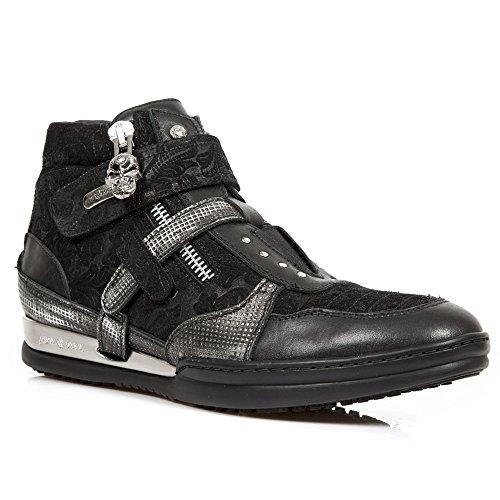New Rock M.HY032-S1 Alle Stiefel aus Leder Black ...