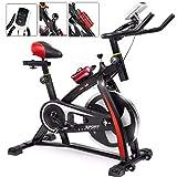 SWEEPID Indoor Training Indoor Cycling Bike LCD Heimtrainer Fitness-Bike Cardio-Bike Fahrrad-Trainer max bis 200 kg belastbar Schwarz