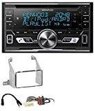 caraudio24 Kenwood DPX-5100BT Aux CD 2DIN MP3 Bluetooth USB Autoradio für Nissan Pathfinder (04-07)