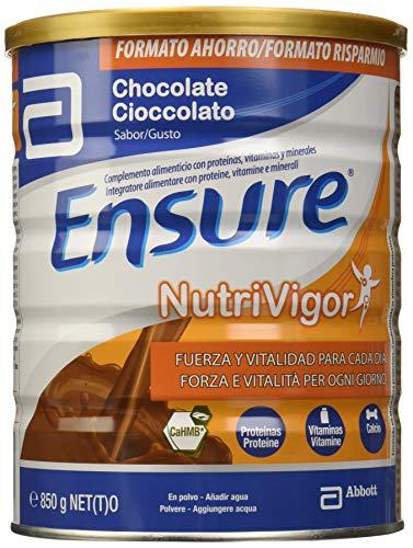 Ensure Nutrivigor sabor chocolate 850g - complemento alimenticio con proteínas, vitaminas, minerales y CaHMB*