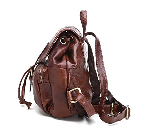 DJB/Leder Rucksack/Damen Mode/Casual/Cute Little Rucksack Trend/Wildleder Kuh Leder Tasche Schwarz