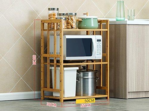 Scaffali da cucina Mensola della cucina a mensola della cucina a muro di  piatto a microonde 3pcs Rifornimento dell\'arredo per la panetteria del  bambù ...