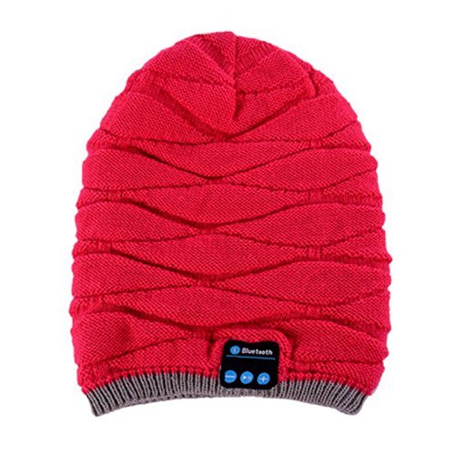 Balai Women's Beanie Hut mit Wireless Bluetooth Kopfhörer Headset Kopfhörer Stereo Lautsprecher & Micro für Handys, iPhone, iPad, Tablets, Android Handys Micro Womens Hut