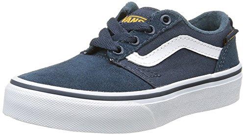 Vans Chapman Stripe, Baskets Basses Mixte Enfant Bleu (Varsity Navy/Gold)