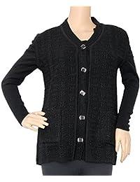 Matelco Women's Sleeveless Short Cardigan with Pockets
