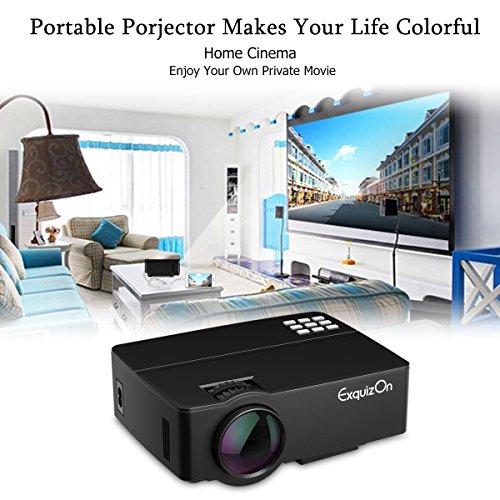 Exquizon-E08-Videoproiettore-1500-Lumens-Proiettore-LCD-800480-per-Home-Theatre-supporto-1080P-HDMI-SD-USB-VGA-compatibile-con-Amazon-TV-Stick-PS4-Nero