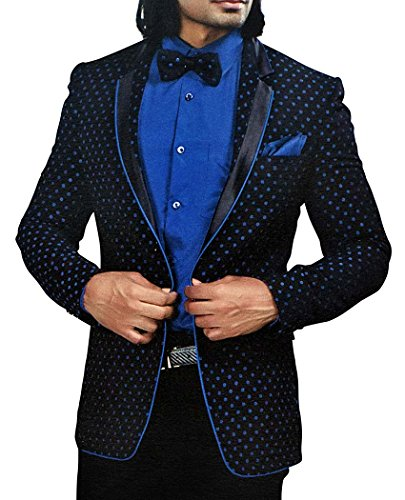 Velvet Smoking-hose (INMONARCH Mens Black Velvet 5 Pc Smoking Anzug Kerbe Revers TX1052XL48 58 Extralang or 4XL (Höhe 190 cm + Oben) Schwarz)