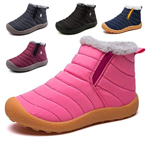KVbaby Winter Snow Boots Slip-on Water Resistant Booties Boy