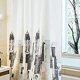 WTL Cortinas de baño 180 * 180 CM cortinas de ducha cómic ciudad patrón impermeable rápido para secar materiales respetuosos del medio ambiente Metal colgante agujero