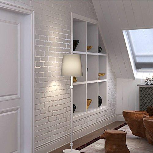 weiß-Backstein Tapete/Vliestapete/3DKulturelle Backstein Tapete/Wohnzimmer-Esszimmer-Tapete/[TV Hintergrundbild]-A