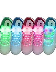 fourHeart Cordones LED, 3 Modos Parpadeo Multicolor LED Cordón de Zapato, Bateria Cargada , Para Calzado Botas Disco Danza Fiestas - 5 Pareja