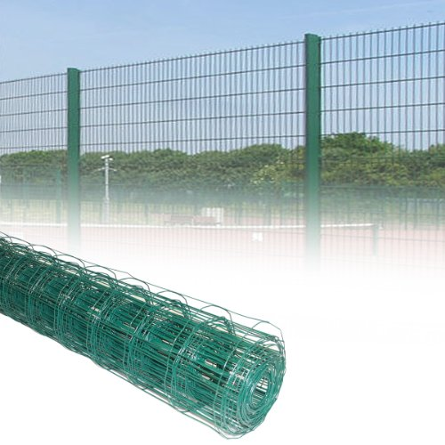 51jM59ZHbcL - BEST BUY# 2x 10M x 1.2M Rolls Green PVC Coated Steel Mesh Fencing Wire Garden Galvanised Fence Border Reviews