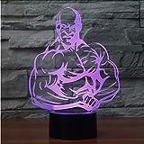 Mmzki Bodybuilding 3D Führte Nachtlicht Führte Bunte Acryllichter Hologramm-Kindertischlampe-Atmosphäre Usb Führte Helle Lampe Canon-Licht