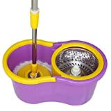 #4: PAffy 360 Degree Magic Spin Mop with Steel Spinner + 1 Refill Pack (Purple and Yellow)