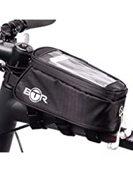 Bolsa de bicicleta para el teléfono – Bolsa impermeable de bicicleta BTR. Negra.