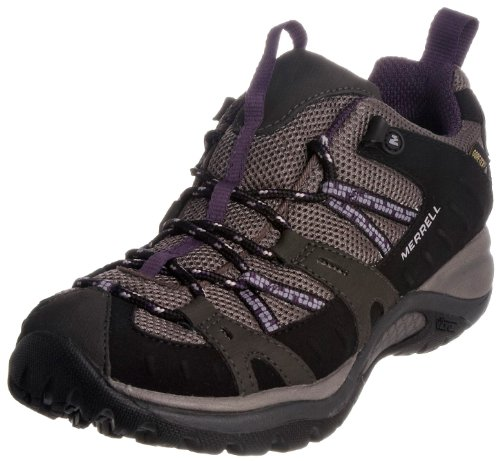 Merrell Siren Sport, Women's Lace-Up Hiking Shoes - Blk/Perfect Plum, 8 UK